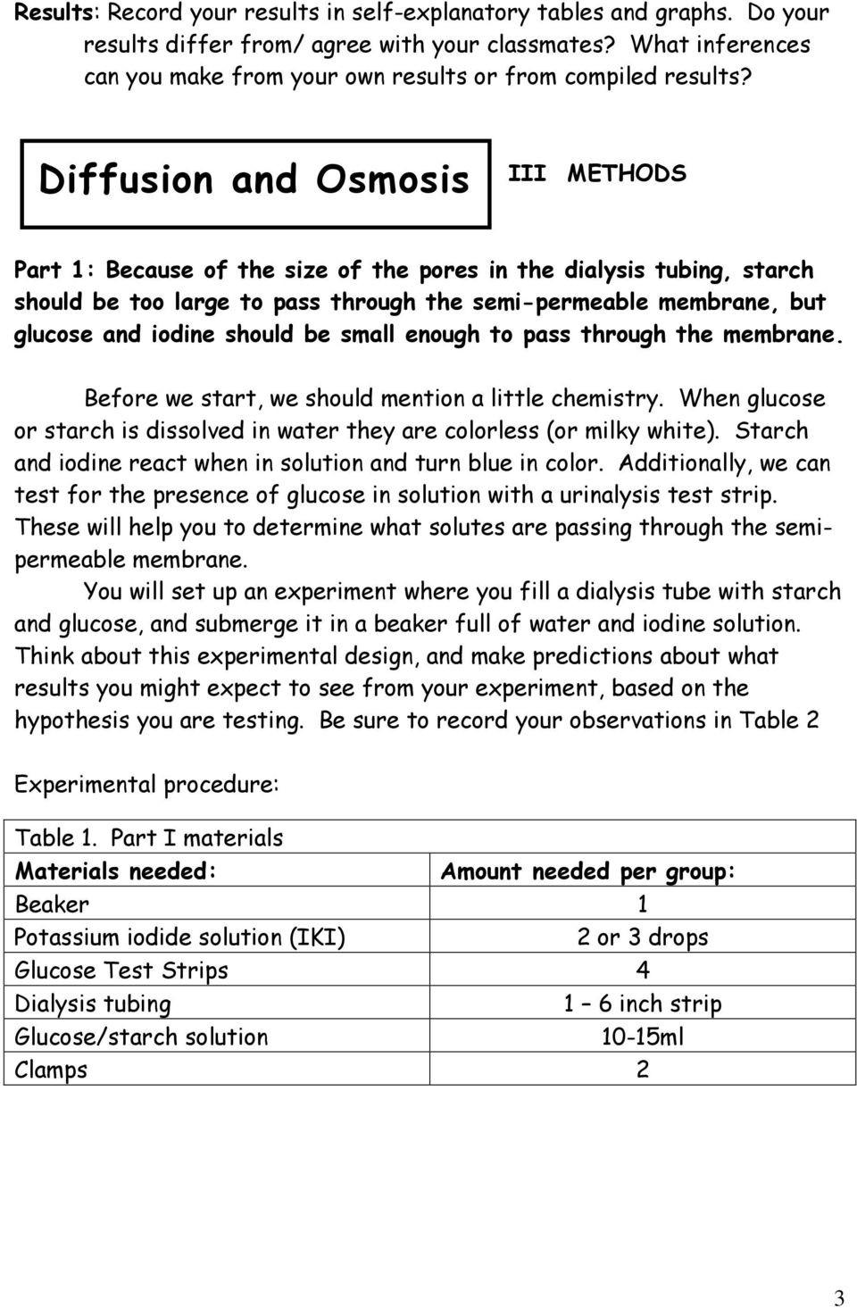 Diffusion and Osmosis Worksheet Diffusion and Osmosis Pdf Free Download