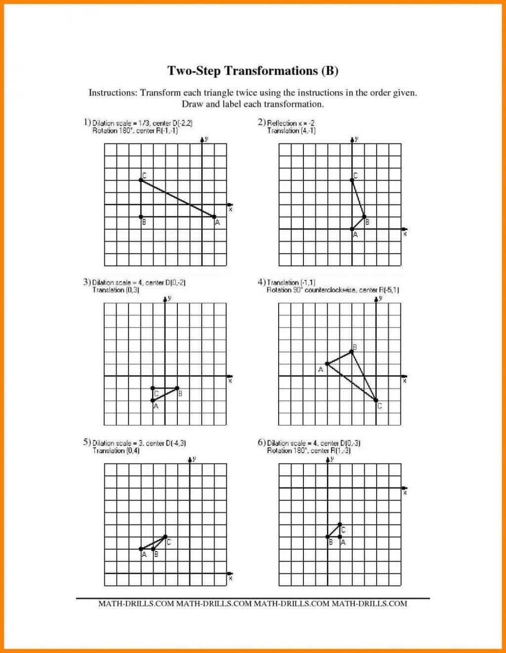 Dilations and Scale Factor Worksheet Printable Dilation Worksheets