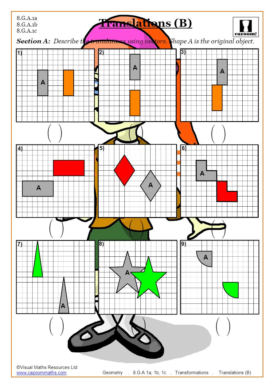 Dilations Translations Worksheet Answers Transformations Worksheets Geometry
