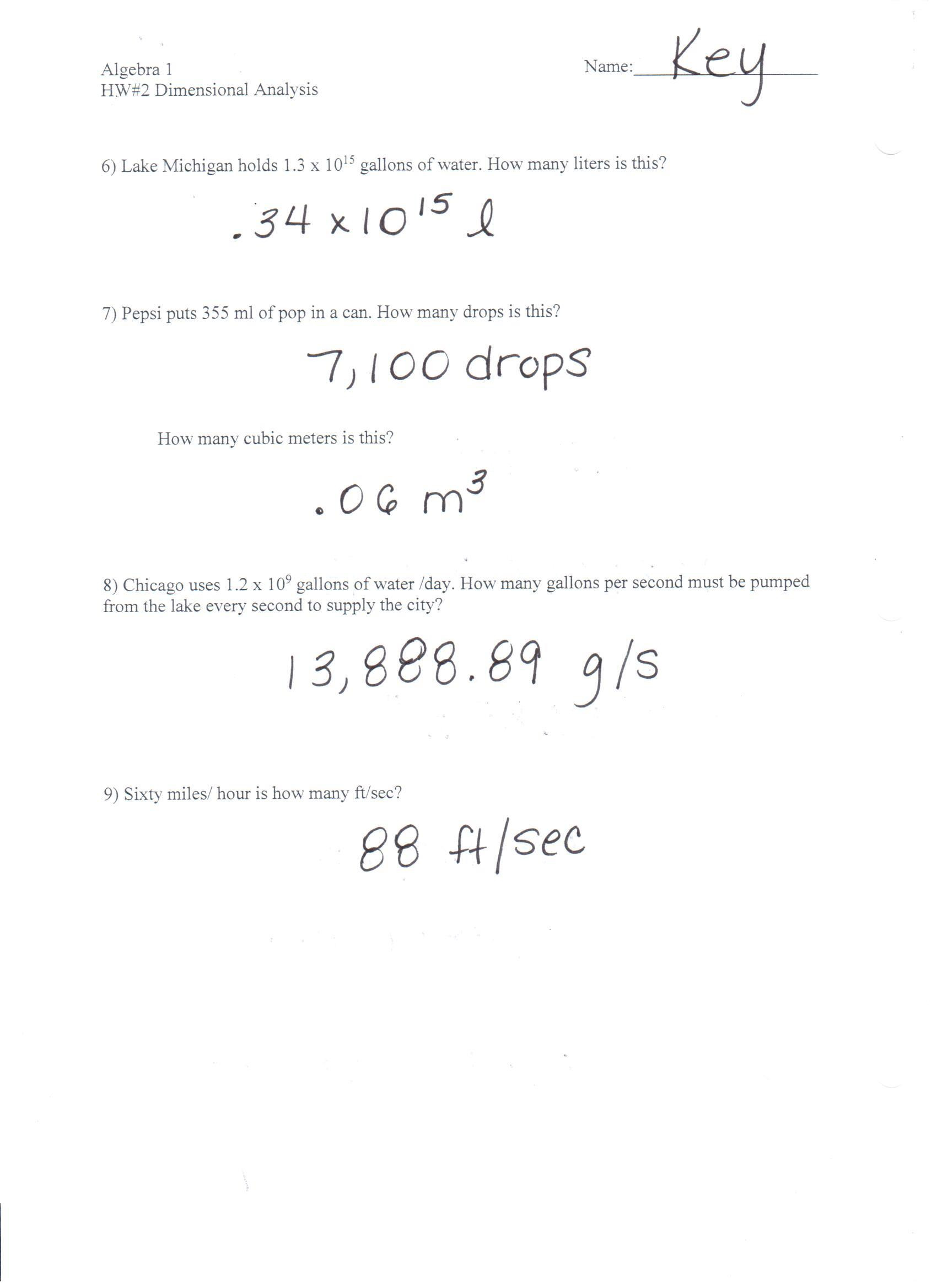 Dimensional Analysis Practice Worksheet Télécharger 1 Dimensional Analysis Notes Pdf