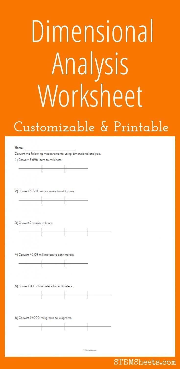 Dimensional Analysis Worksheet 2 Pin On Printable Blank Worksheet Template