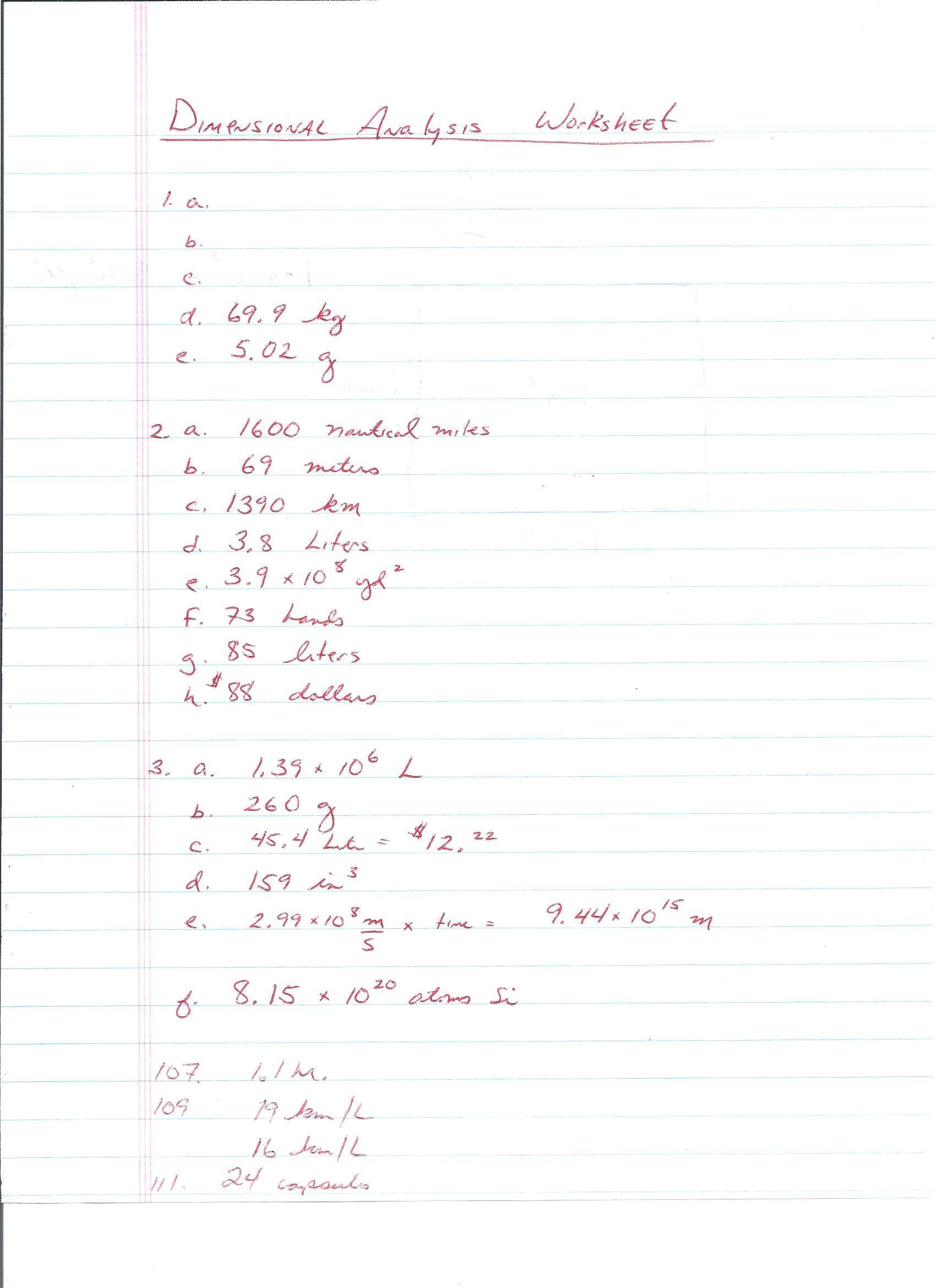 Dimensional Analysis Worksheet Chemistry Mr D S Cp Chemistry 2018 2019 Web Page