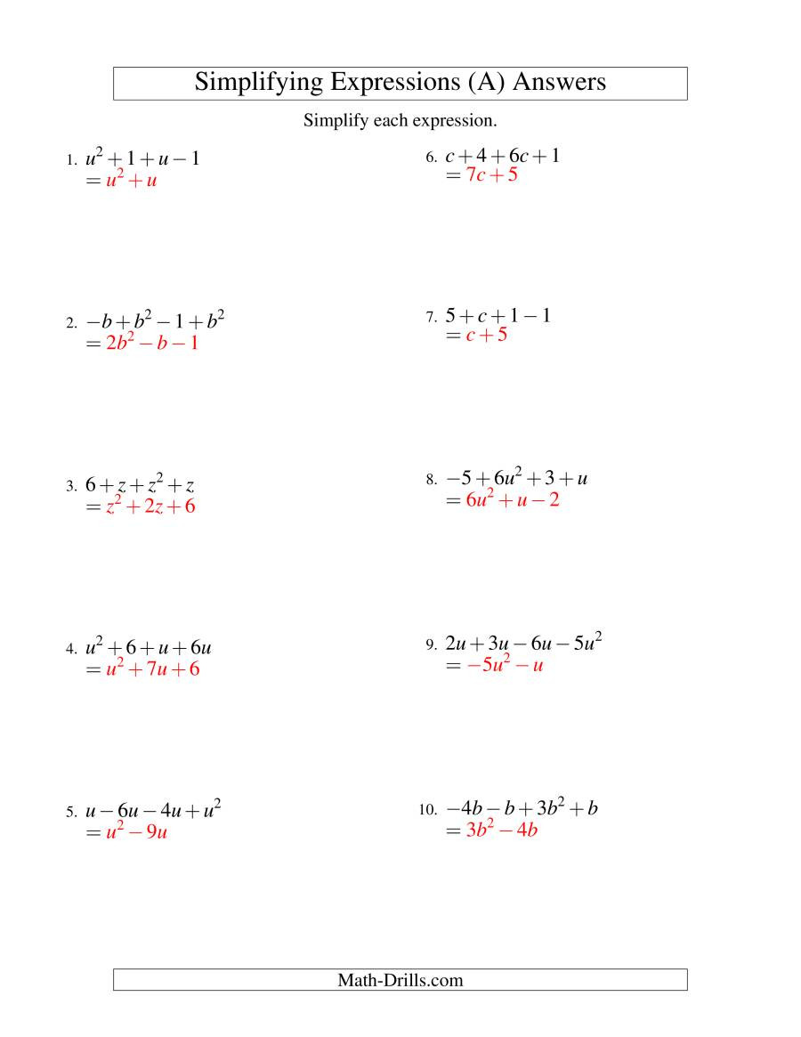 Distributive Property with Variables Worksheet Worksheets Staggering Simplifying Algebraic Expressions