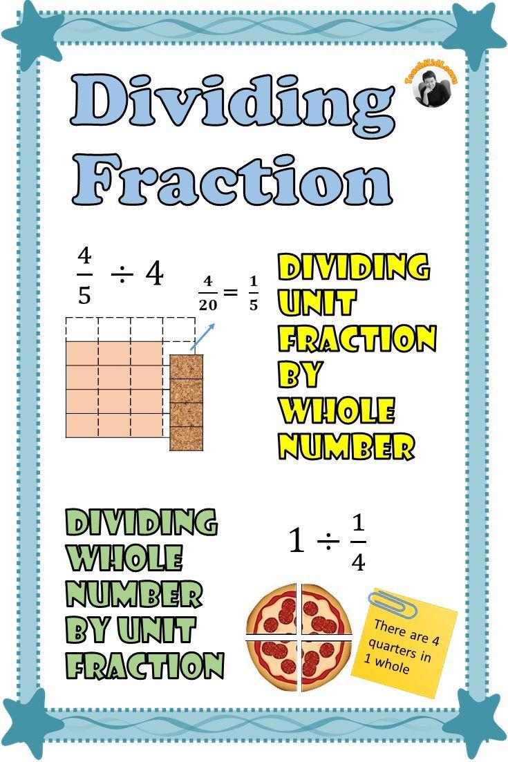 Dividing Fractions Using Models Worksheet Dividing Fractions by whole Number and whole Number by