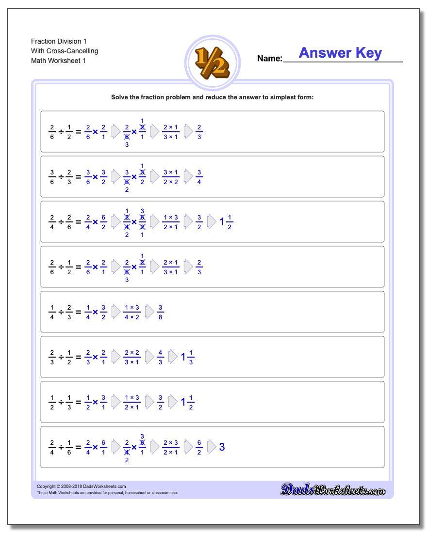 Dividing Fractions Using Models Worksheet Fraction Division