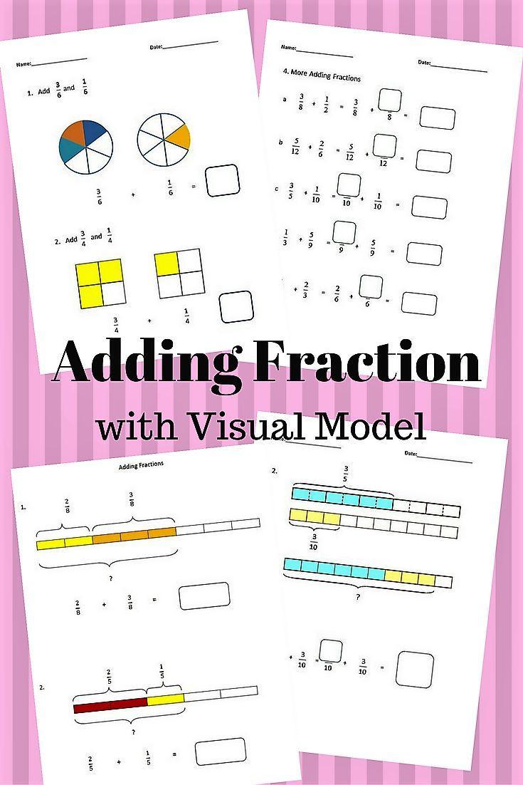 Dividing Fractions Using Models Worksheet Fractions Worksheets 4th Grade 5th Grade Adding