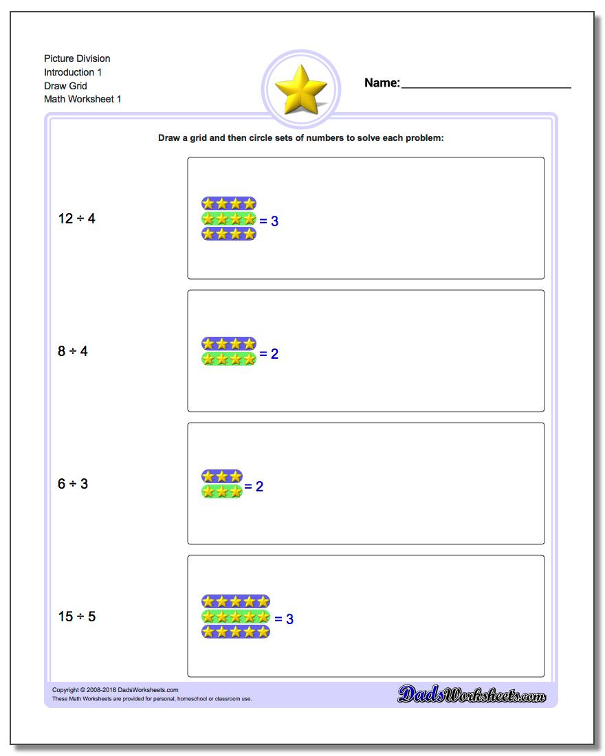 Dividing Fractions Using Models Worksheet Picture Math Division