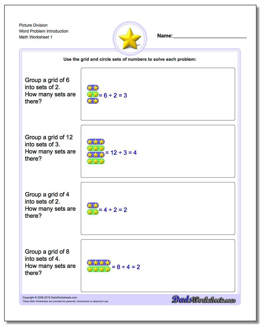 Dividing Fractions Using Models Worksheet Picture Math Division
