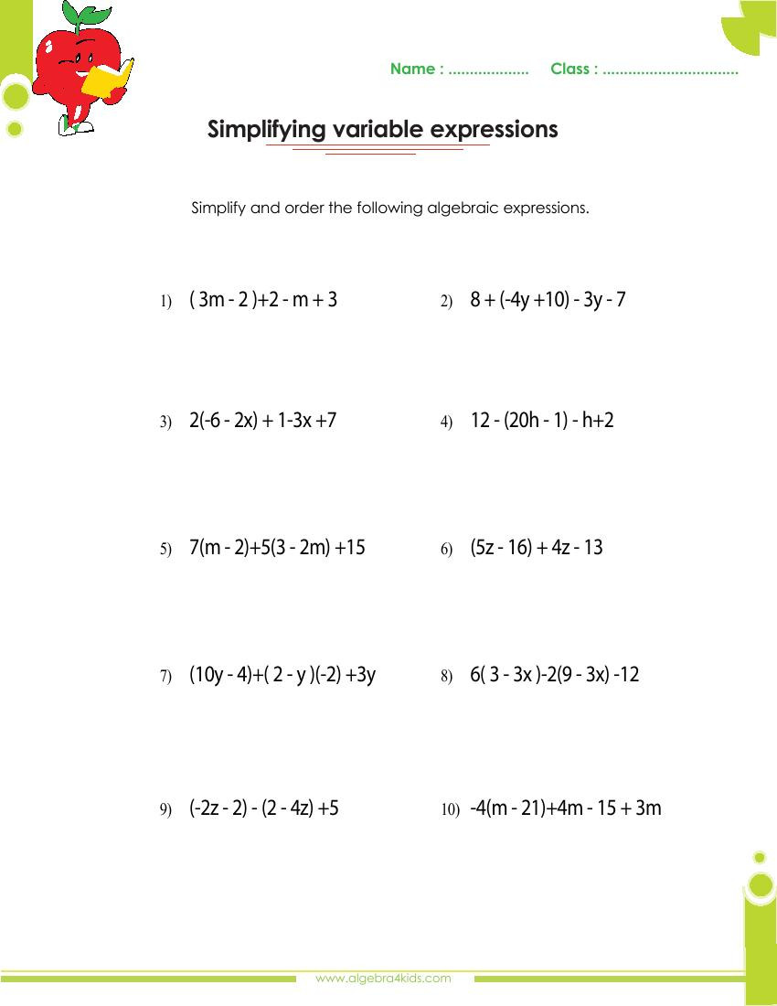 Dividing Polynomials by Monomials Worksheet Adding and Subtracting Polynomials Worksheets with Answers