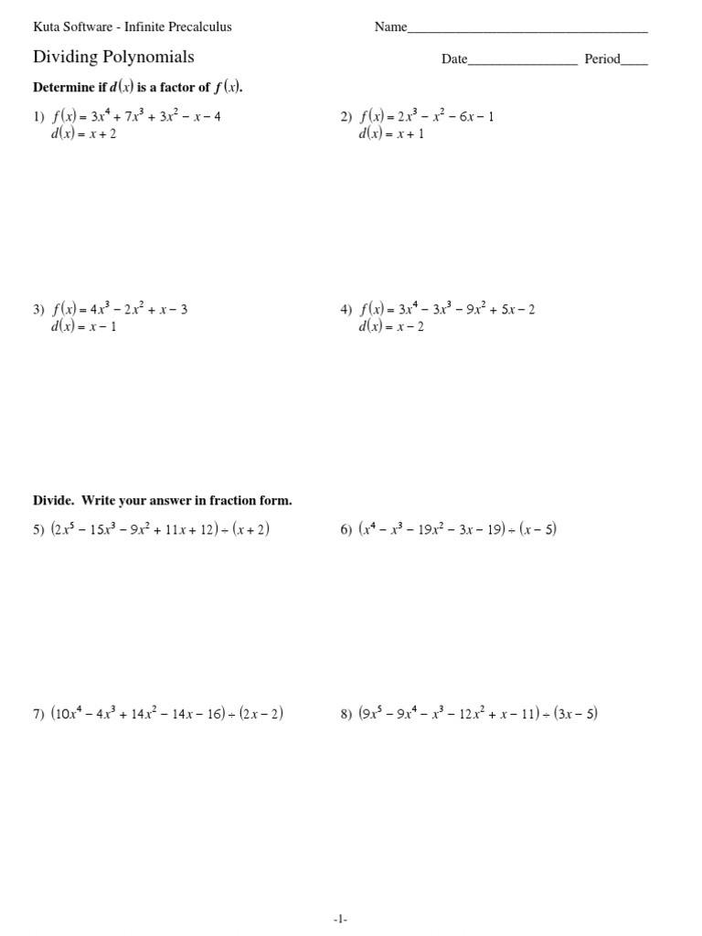 Dividing Polynomials Worksheet Answers 02 Dividing Polynomials 2