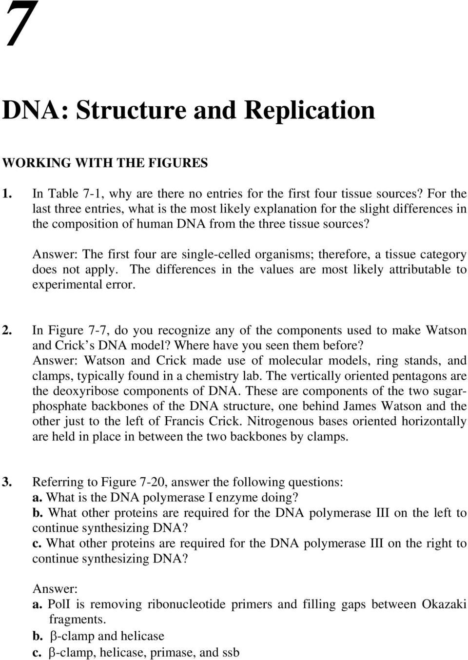 Dna Replication Worksheet Key Dna Structure and Replication Pdf Free Download