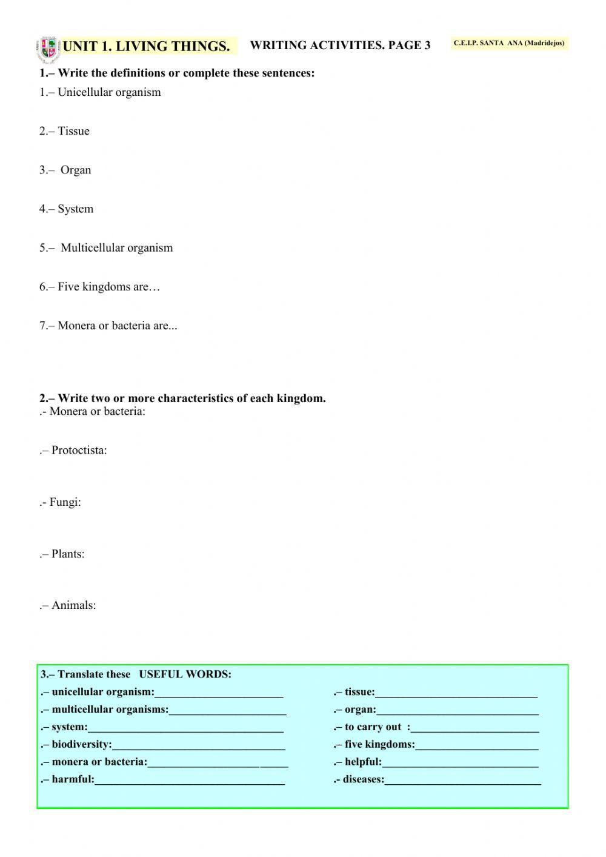 Domains and Kingdoms Worksheet top Ten Floo Y Wong Artist — Unicellular organisms Worksheet