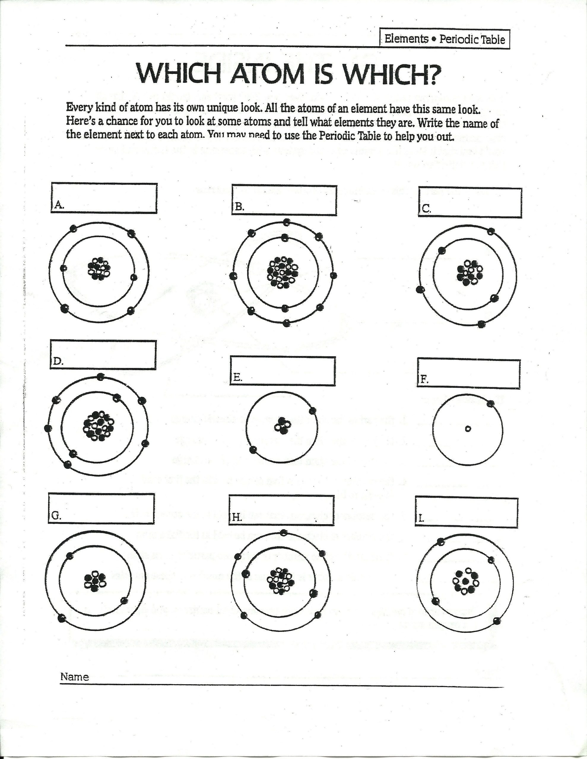 Drawing atoms Worksheet Answer Key Answers to Drawing atoms Worksheet Answers to Drawing