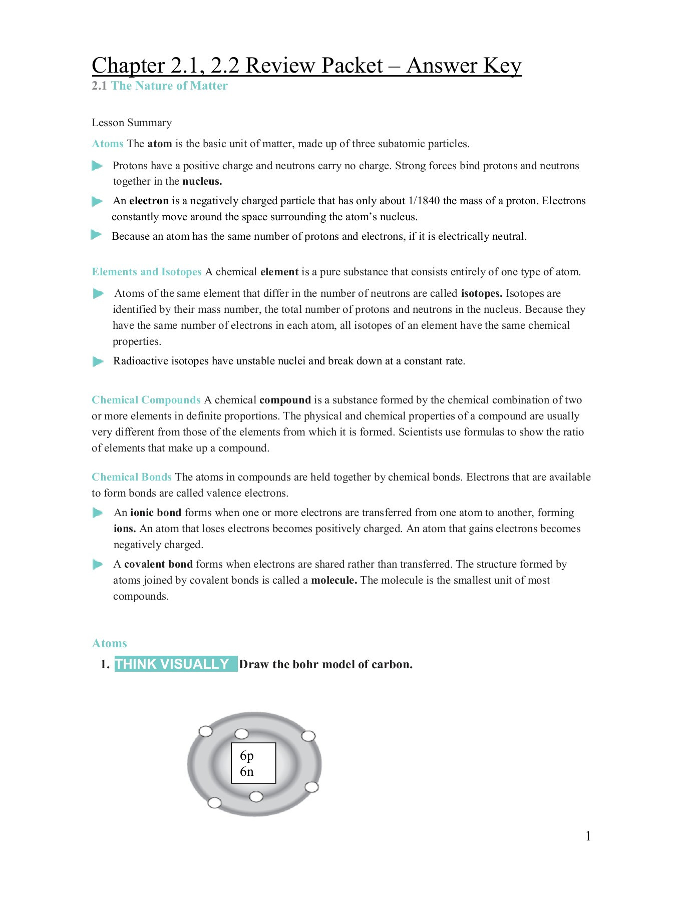 Drawing atoms Worksheet Answer Key Chapter 2 1 2 2 Review Packet Answer Key Mrs Zedan S