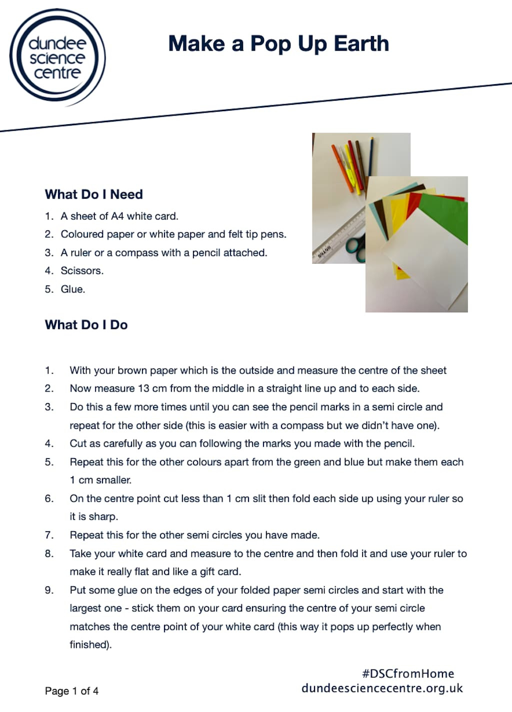 Earth Layers Worksheet Pdf Planet Earth Week Dundee Science Centre