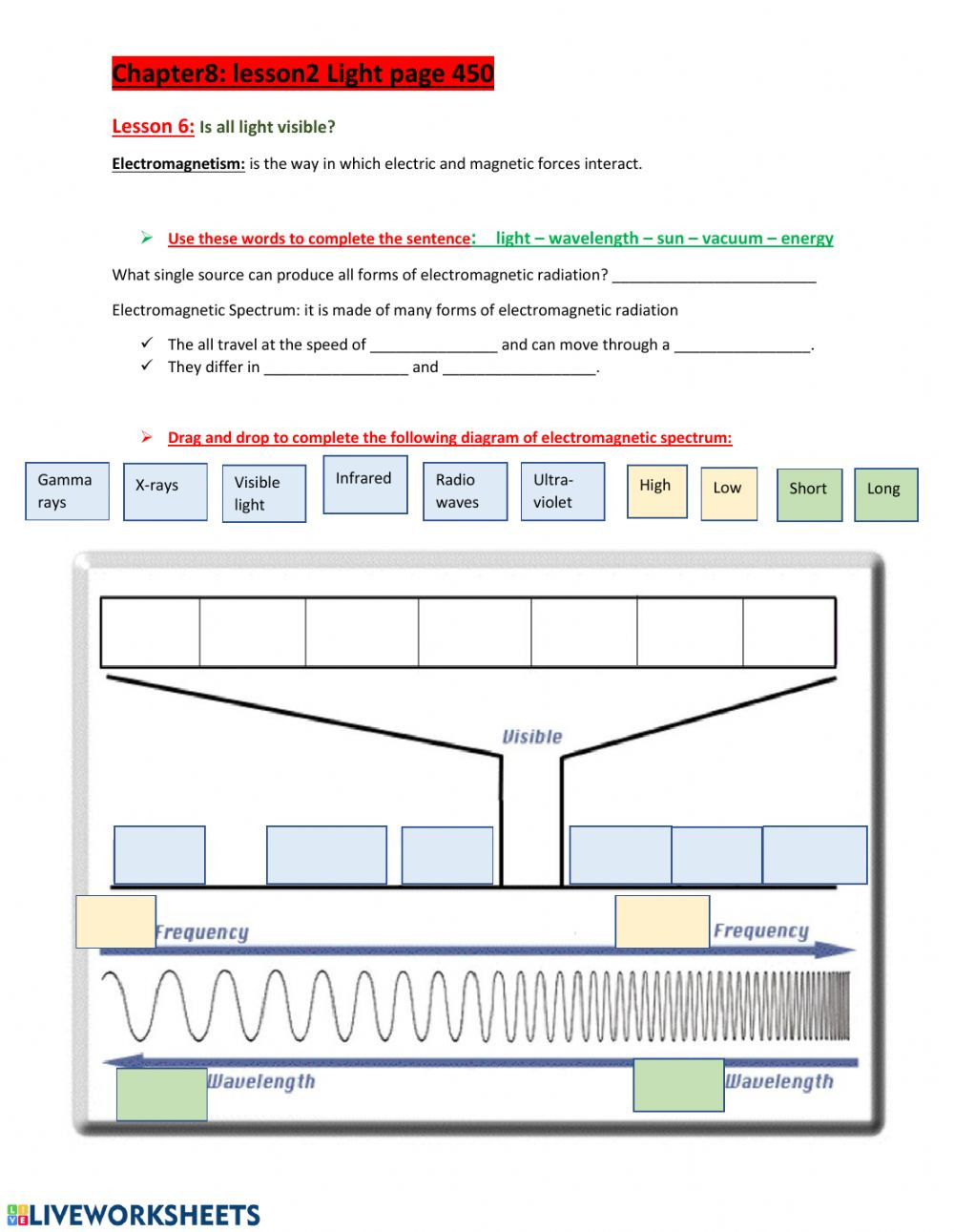 Electromagnetic spectrum xb nq