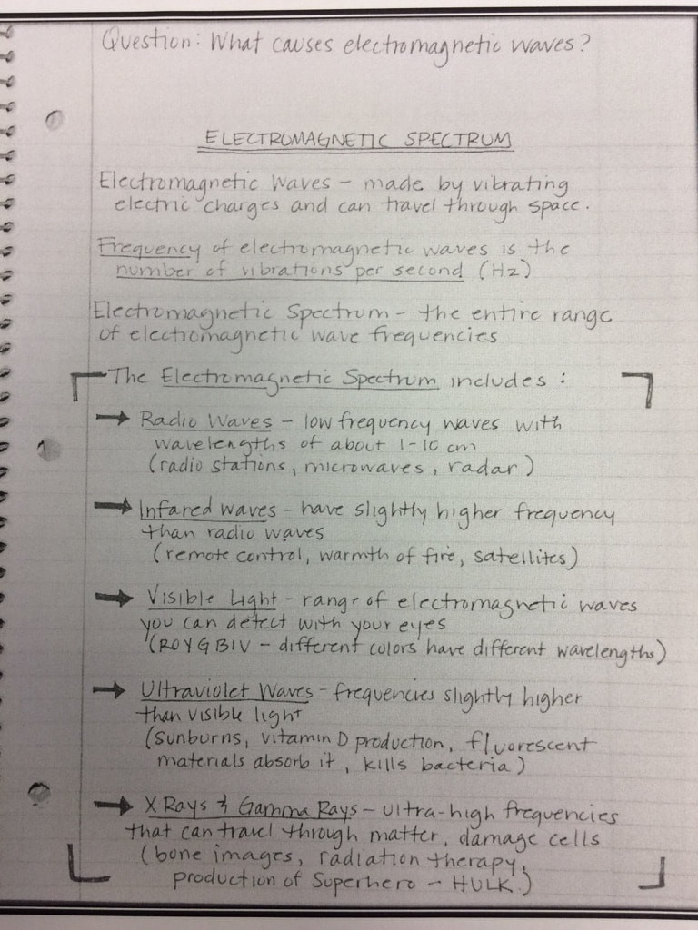 Electromagnetic Spectrum Worksheet Answers Waves Math & Science Warrior