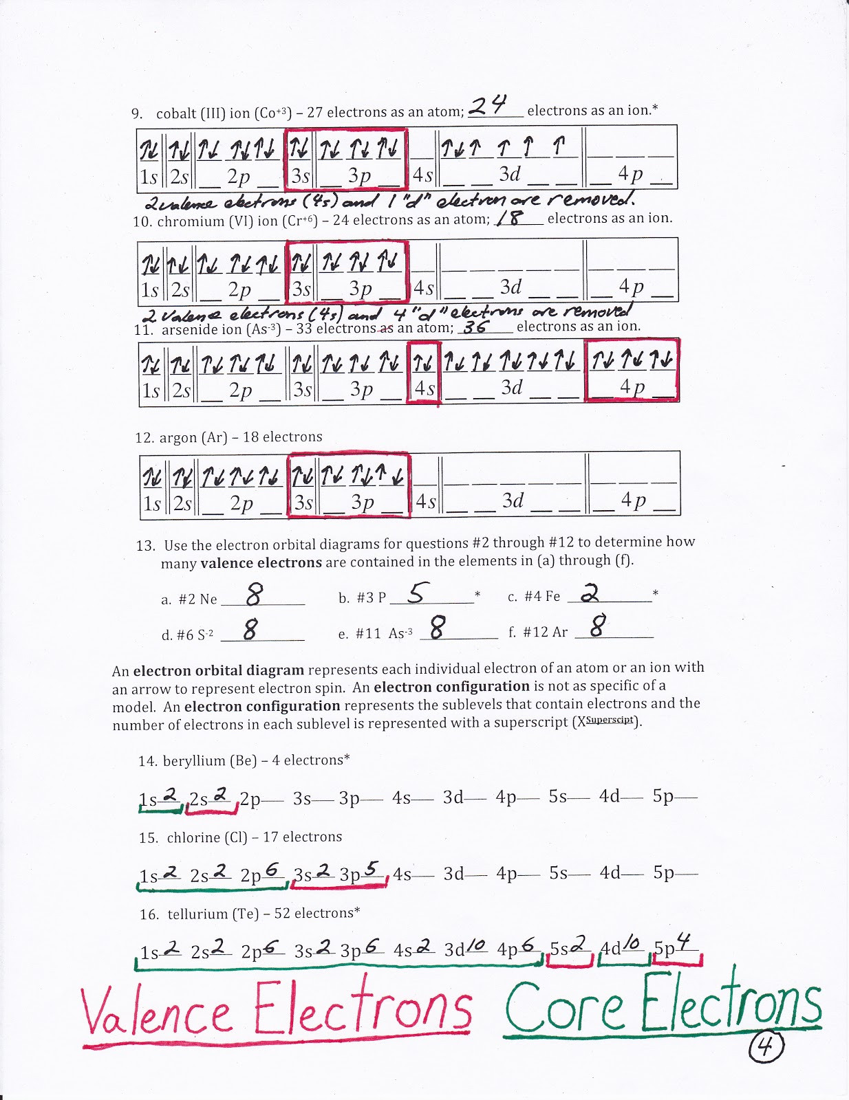Electron Configuration Worksheet Answers Word Configuration Worksheets