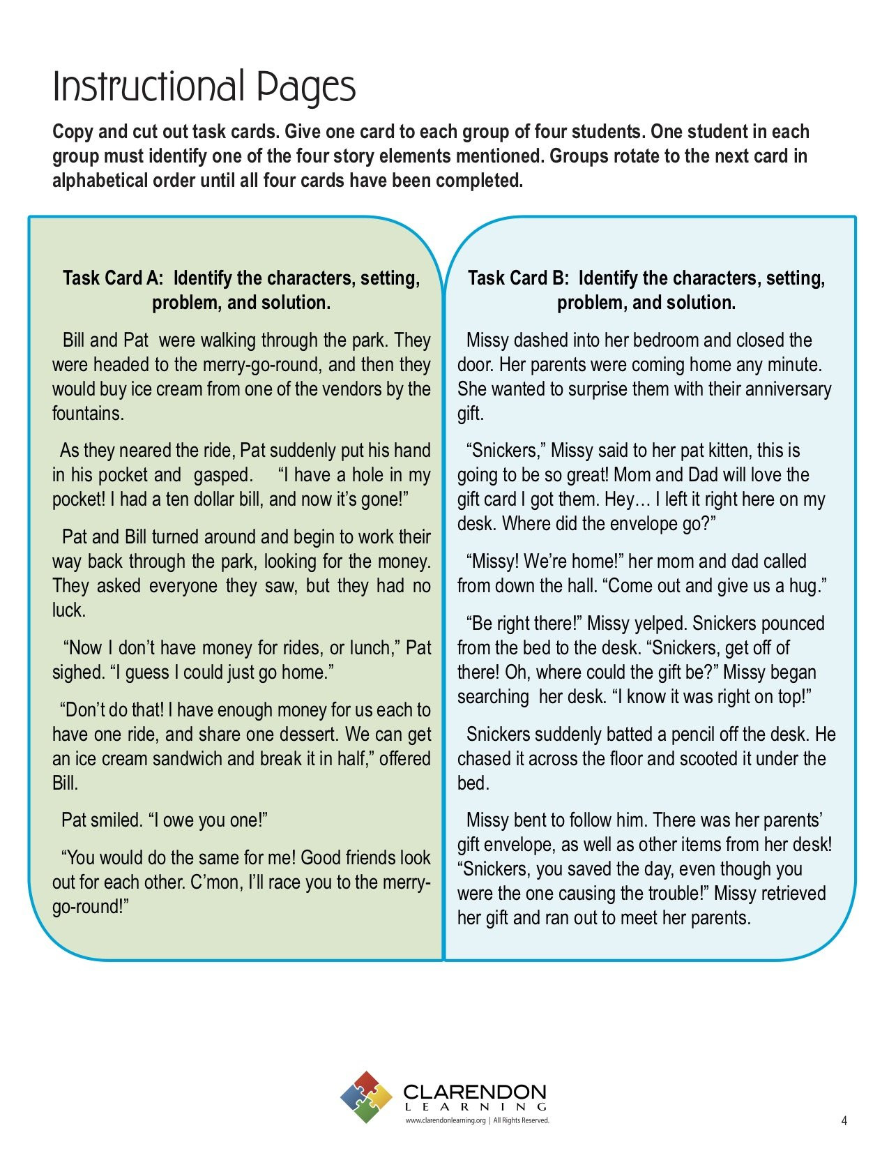 Elements Of A Story Worksheet Story Elements