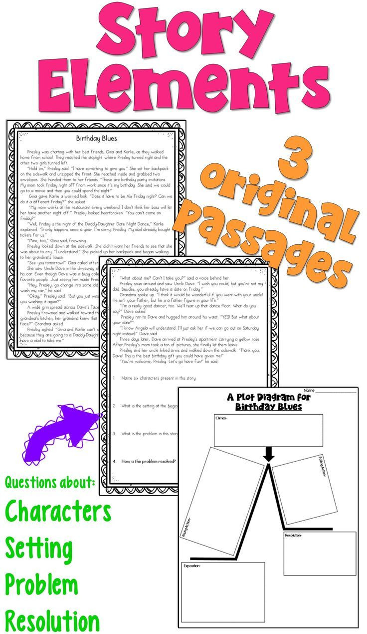 Elements Of A Story Worksheet Story Elements Worksheets Pdf and Digital