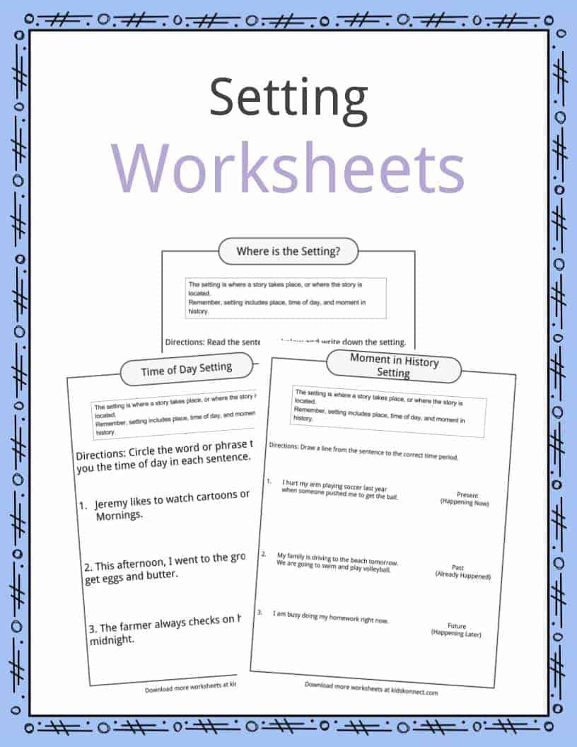 Elements Of A Story Worksheet Story Setting Examples Definition & Worksheets for Kids