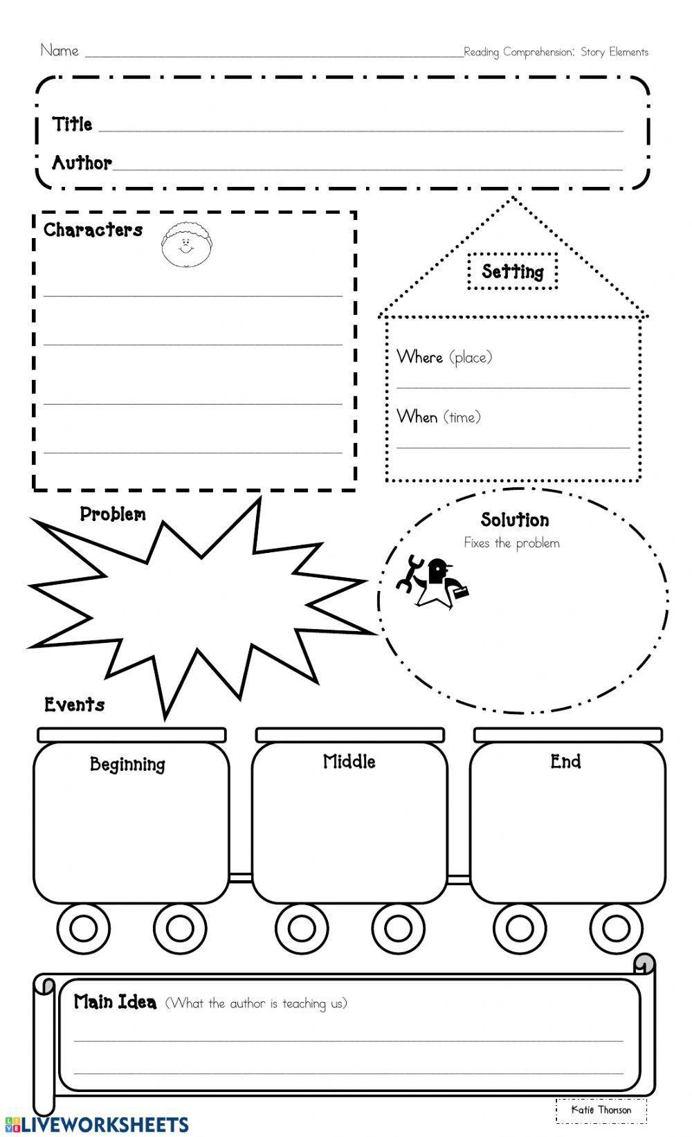 Elements Of A Story Worksheet Thinking within the Text Graphic organizer Interactive