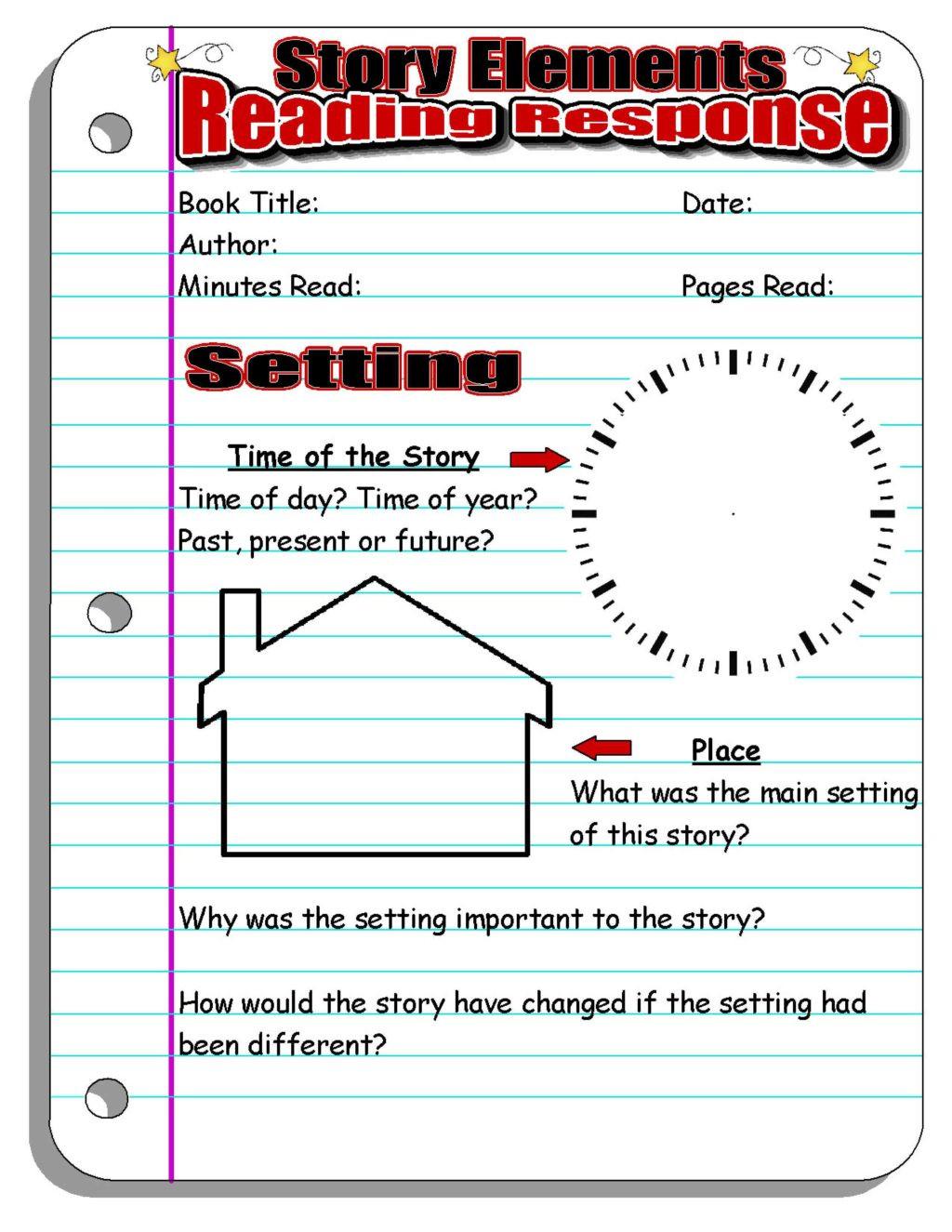 Elements Of A Story Worksheet Worksheet Remarkable Second Gradeding Stories