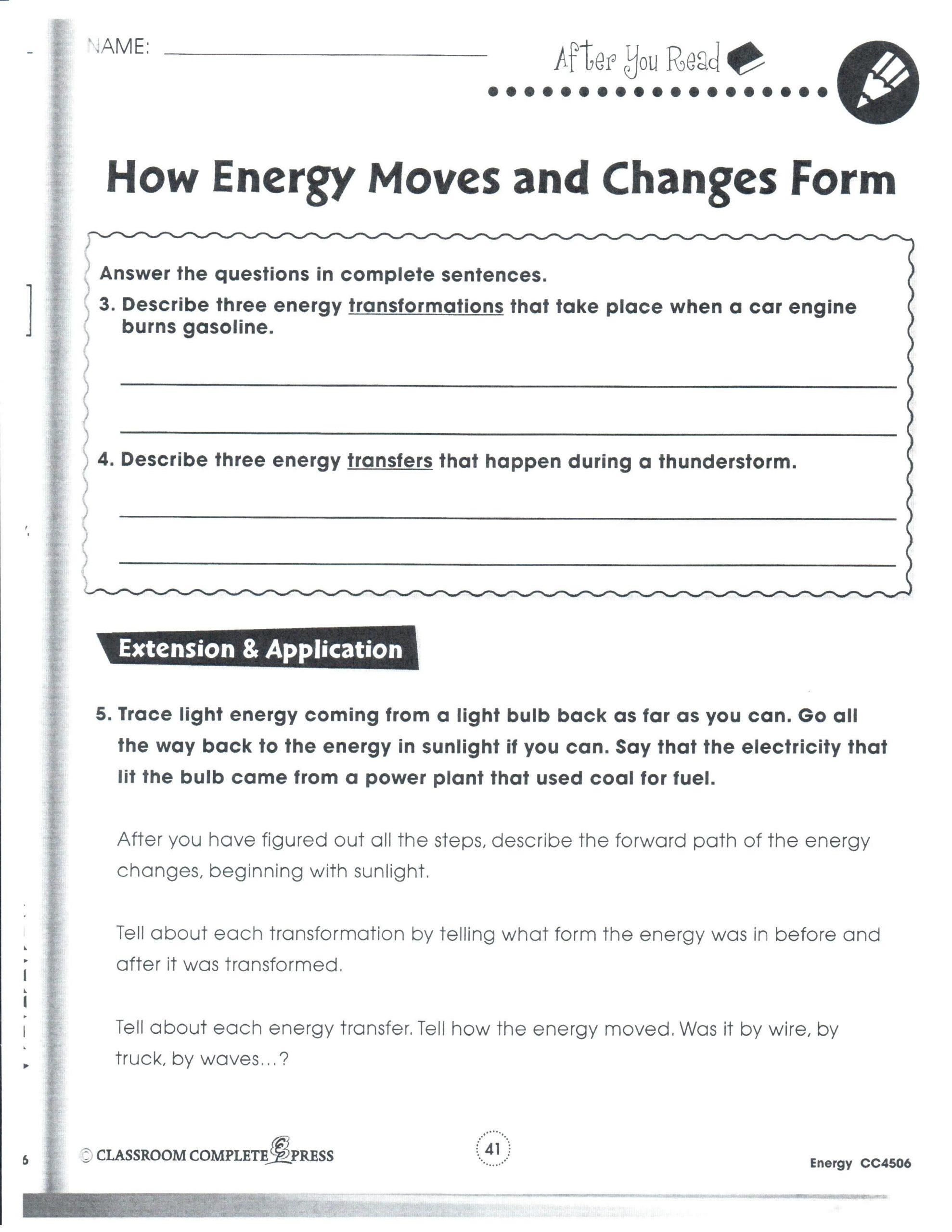 Energy Transformation Worksheet Answer Key Cryptograms Energy Worksheet Answers