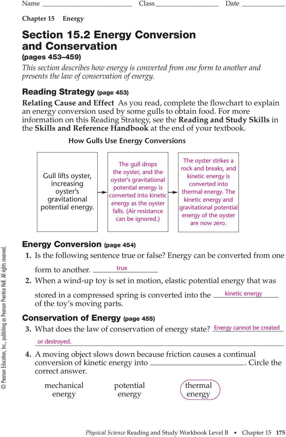 Energy Transformation Worksheet Answer Key Energy Transformation and Conservation Worksheet Energy Etfs
