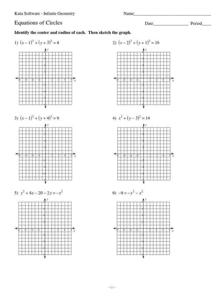 Equations Of Circles Worksheet 11 Equations Of Circles Circle