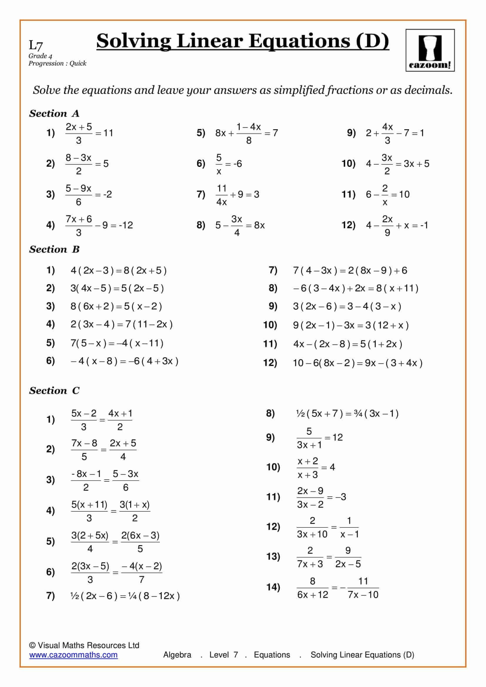 Equations with Fractions Worksheet Pin On Printable Blank Worksheet Template