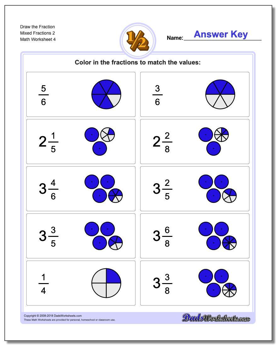 Equivalent Fractions Worksheet Pdf Worksheet Mixed Fractions V4 Free Worksheets Grade My