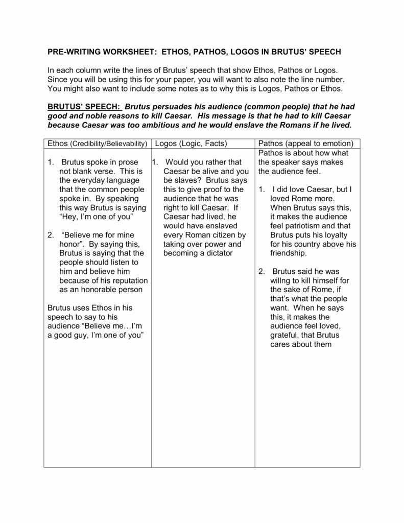 Ethos Pathos Logos Worksheet Answers 50 Ethos Pathos Logos Worksheet Answers In 2020