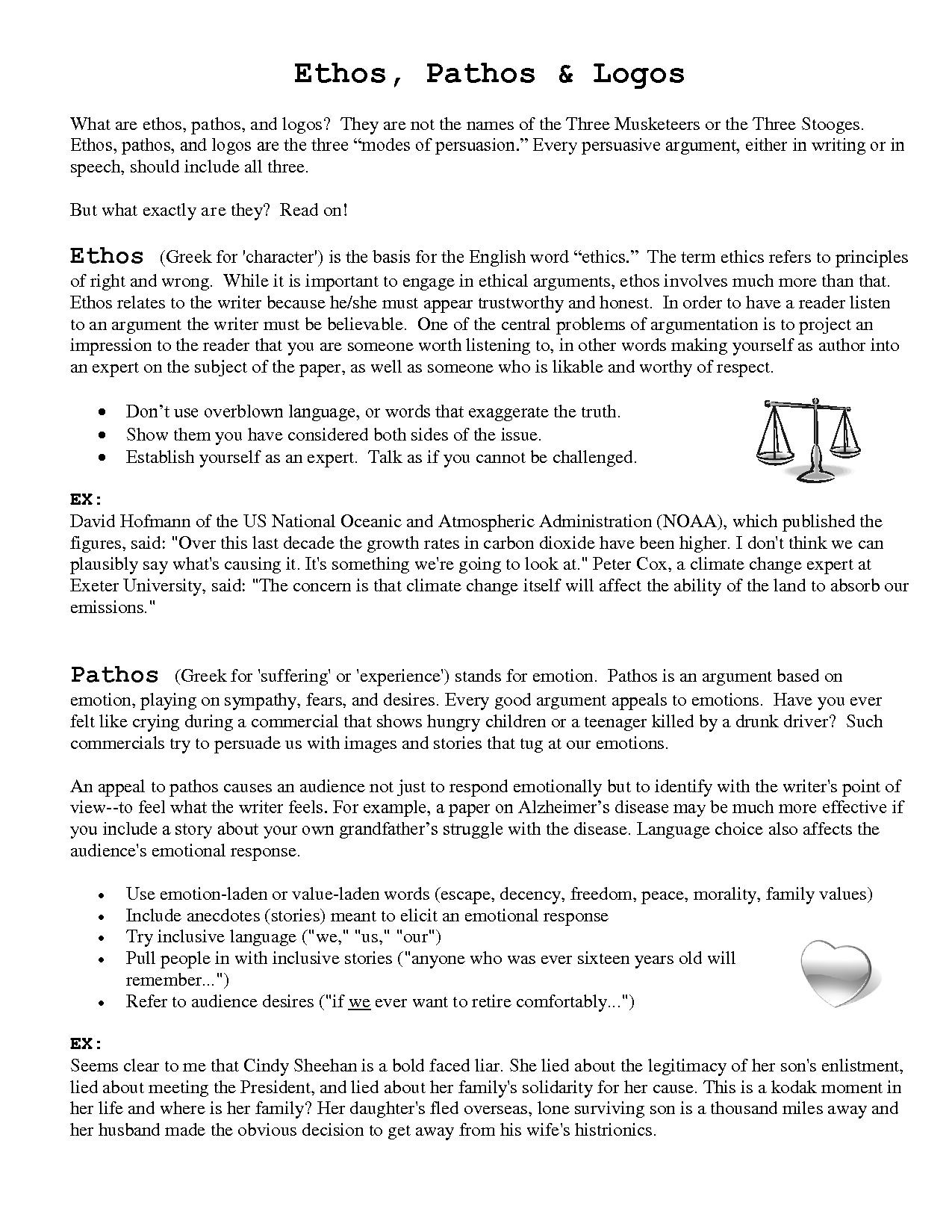 Ethos Pathos Logos Worksheet Answers Ethos Pathos Logos
