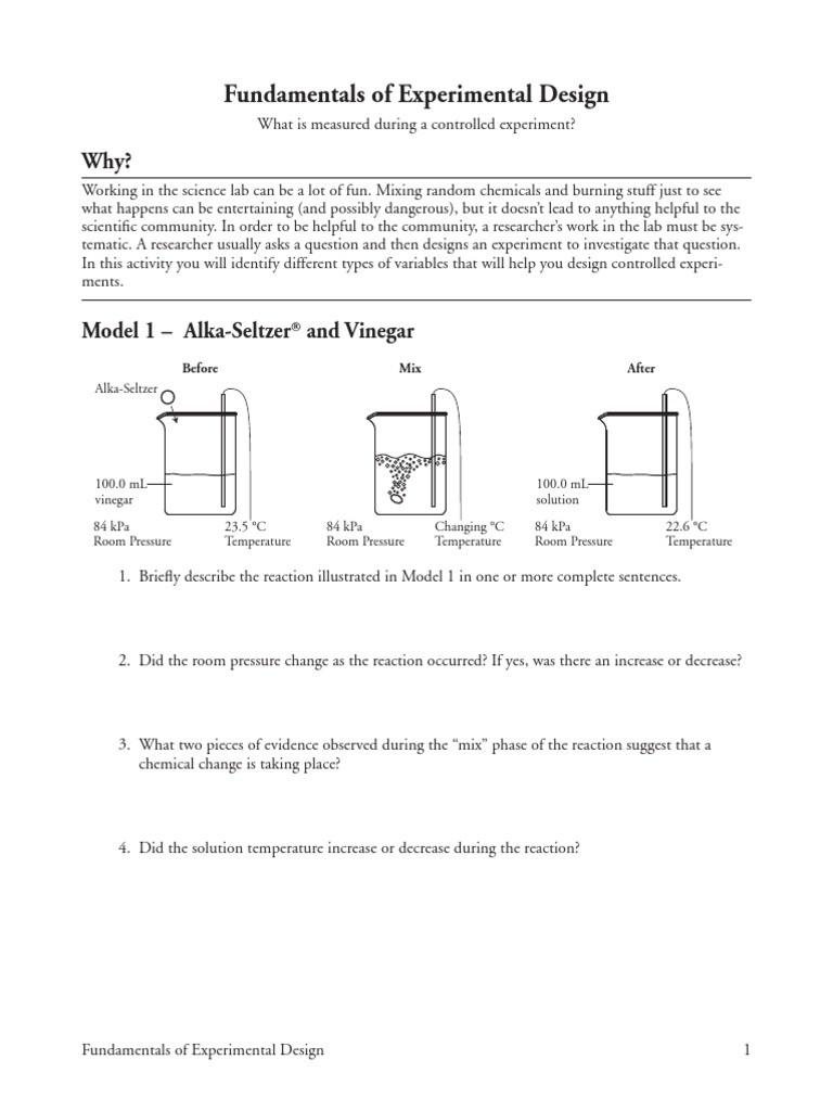 Experimental Design Worksheet Answers 3 Fundamentals Of Experimental Design
