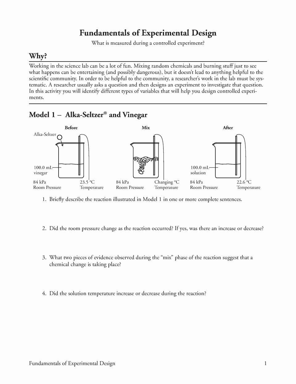 Experimental Design Worksheet Answers Experimental Variables Worksheet Answers Unique Worksheets