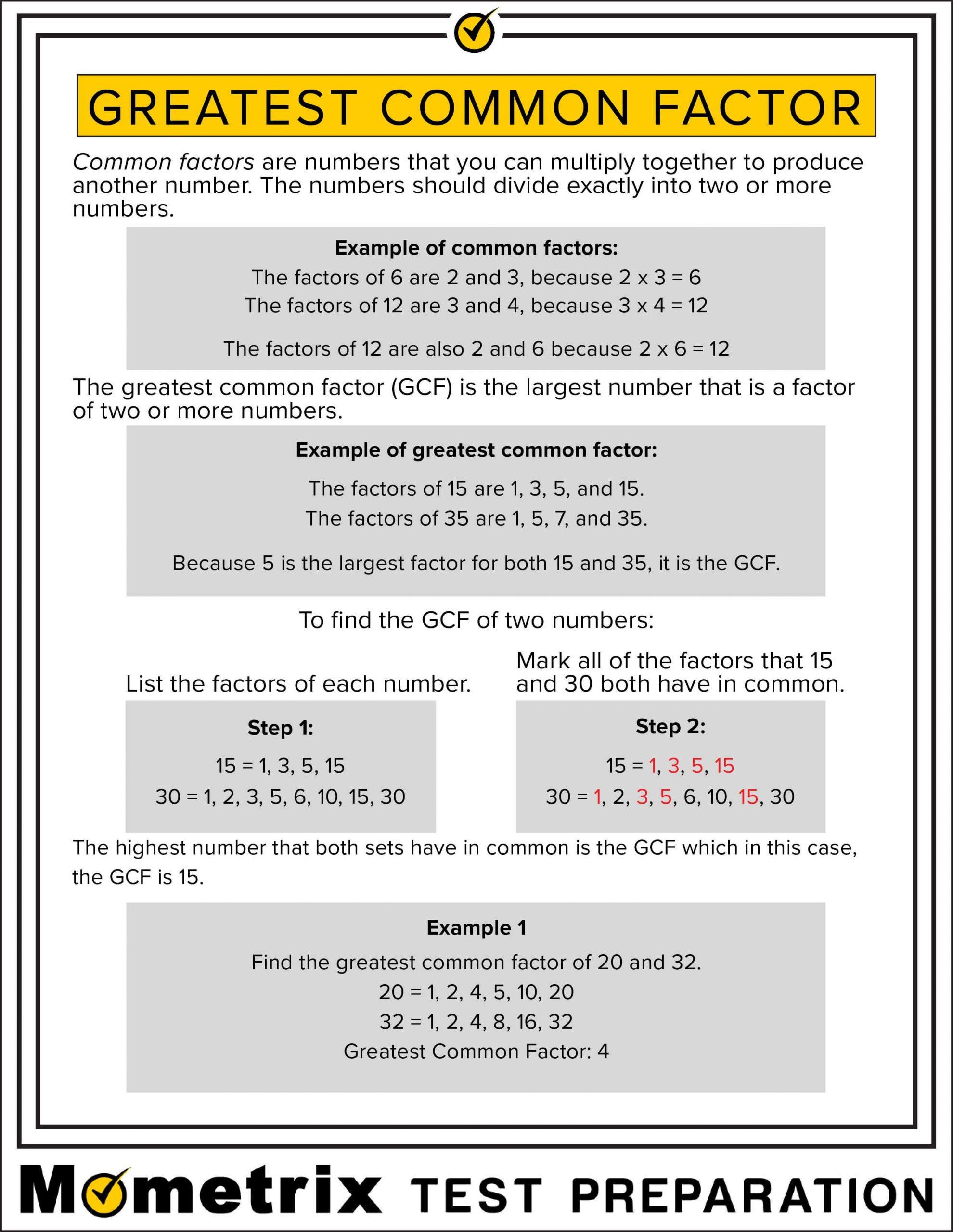 Factoring Greatest Common Factor Worksheet Fun Fact Worksheet Greatest Mon Factor
