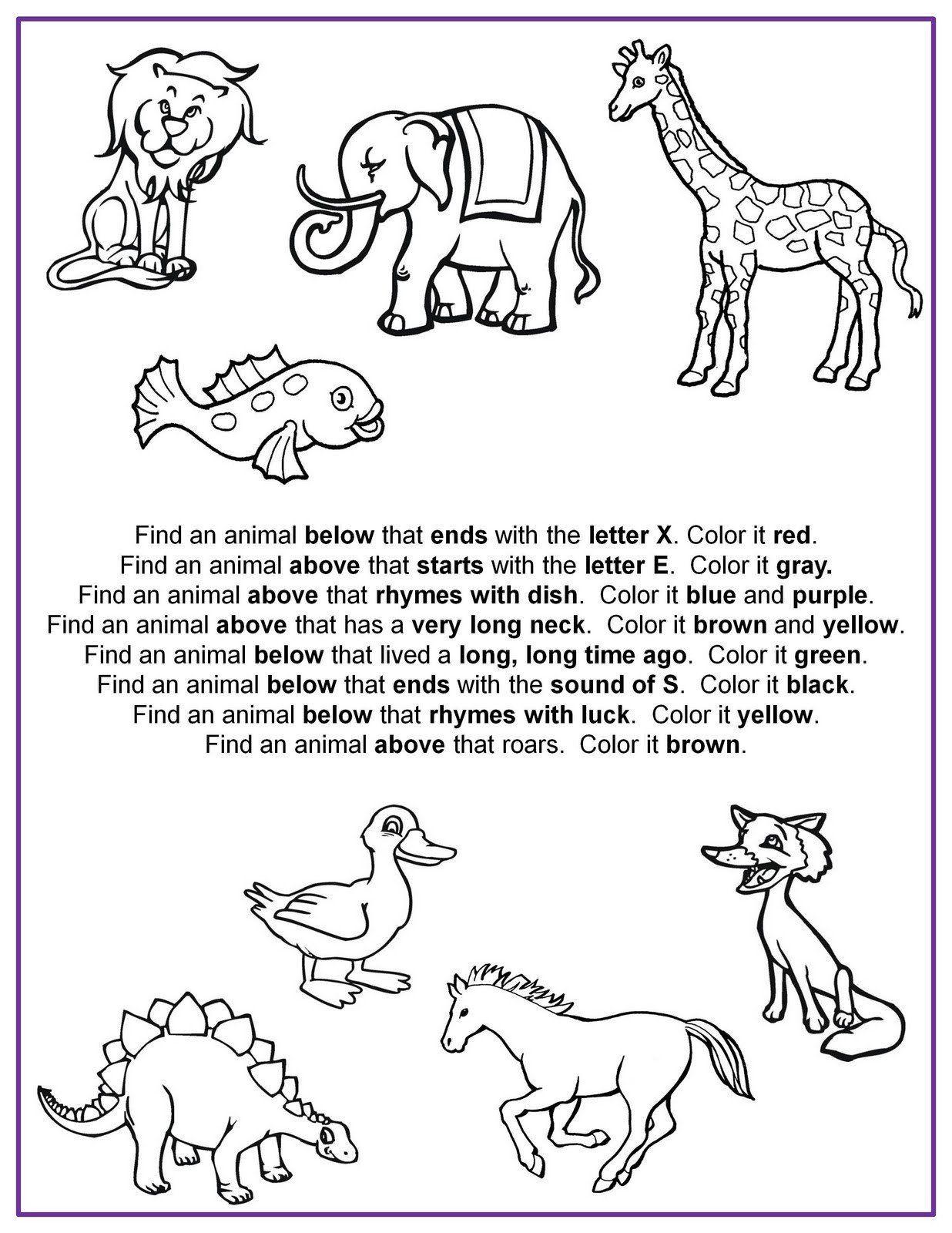 Following Directions Worksheet Kindergarten 20 Following Directions Coloring Worksheet In 2020