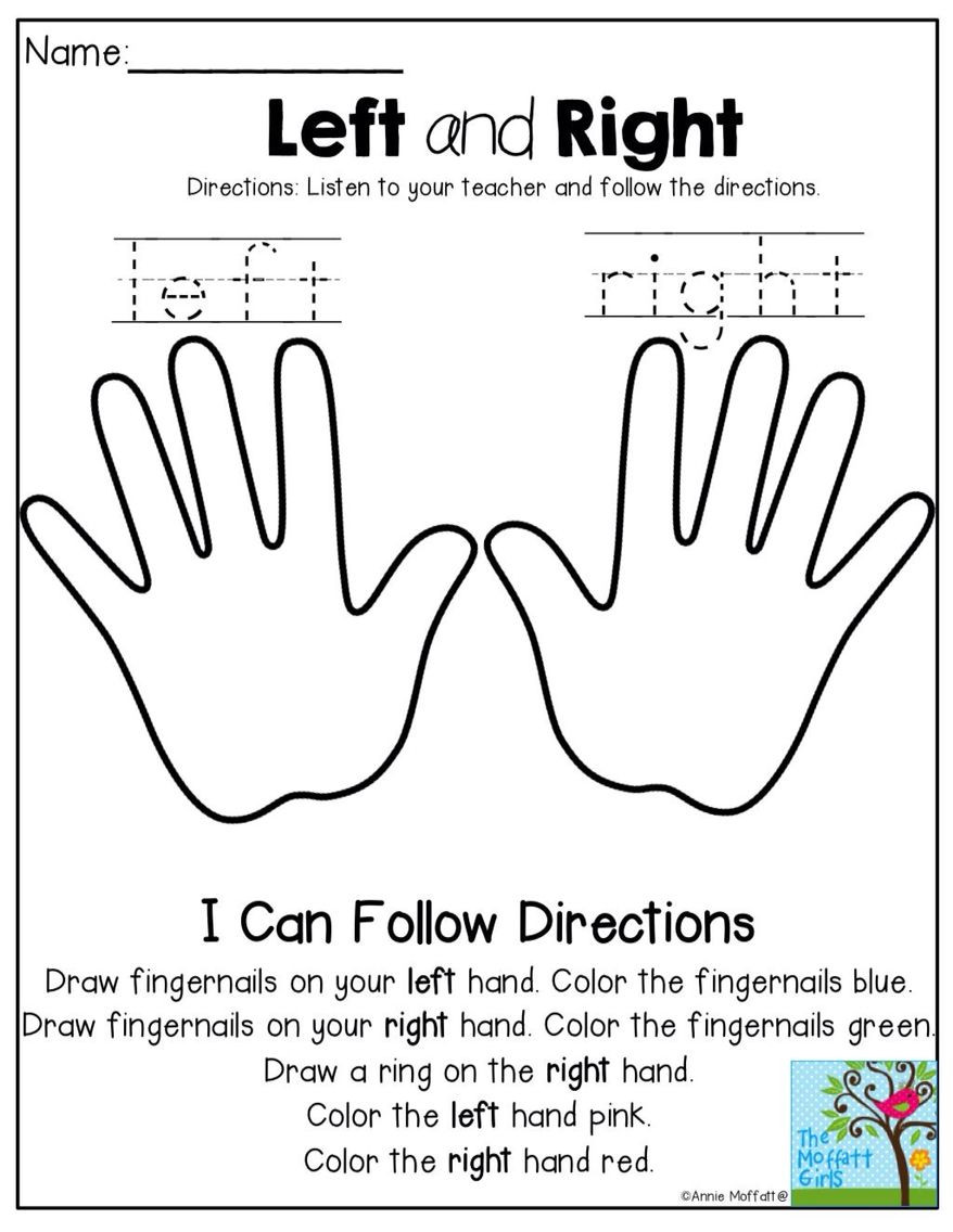 Following Directions Worksheet Kindergarten English for Kids Pinterest Following oral Directions
