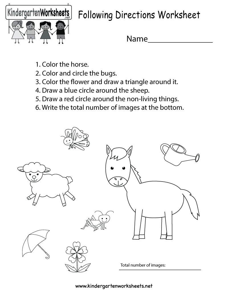 """Following Directions Worksheet Kindergarten Kindergarten Wsheets On Twitter """"this Free Kindergarten"""