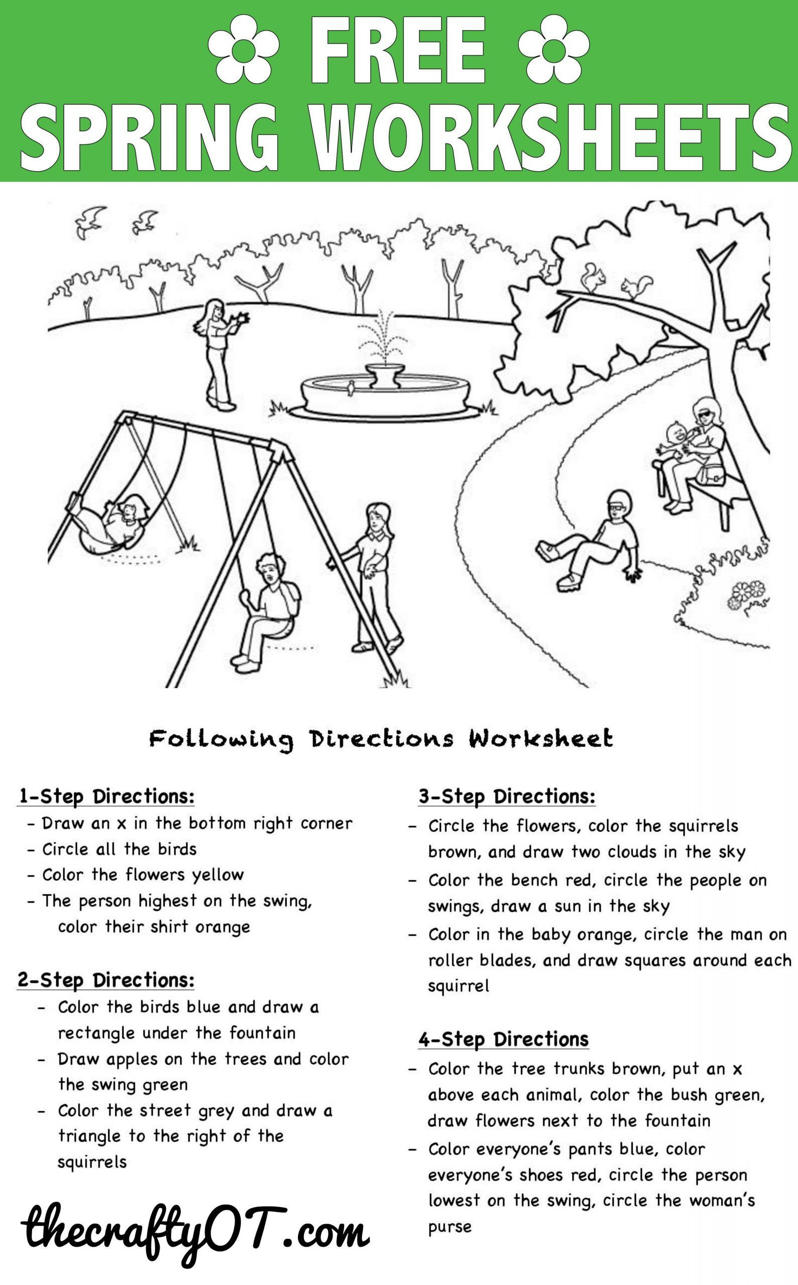 Following Directions Worksheet Kindergarten Pin On Kindergarten Worksheets Free Printable