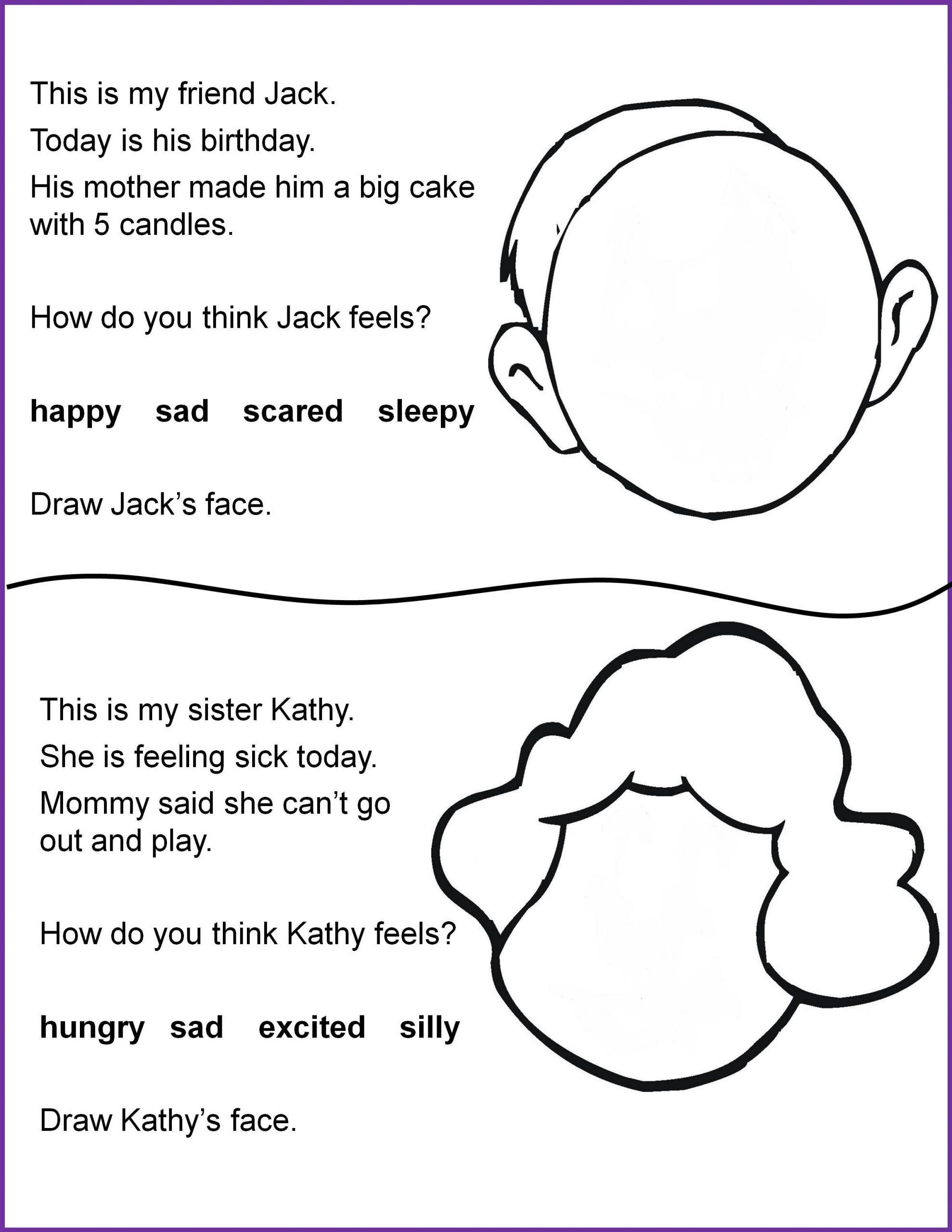 Following Directions Worksheet Kindergarten Reading and Following Directions Worksheets 4