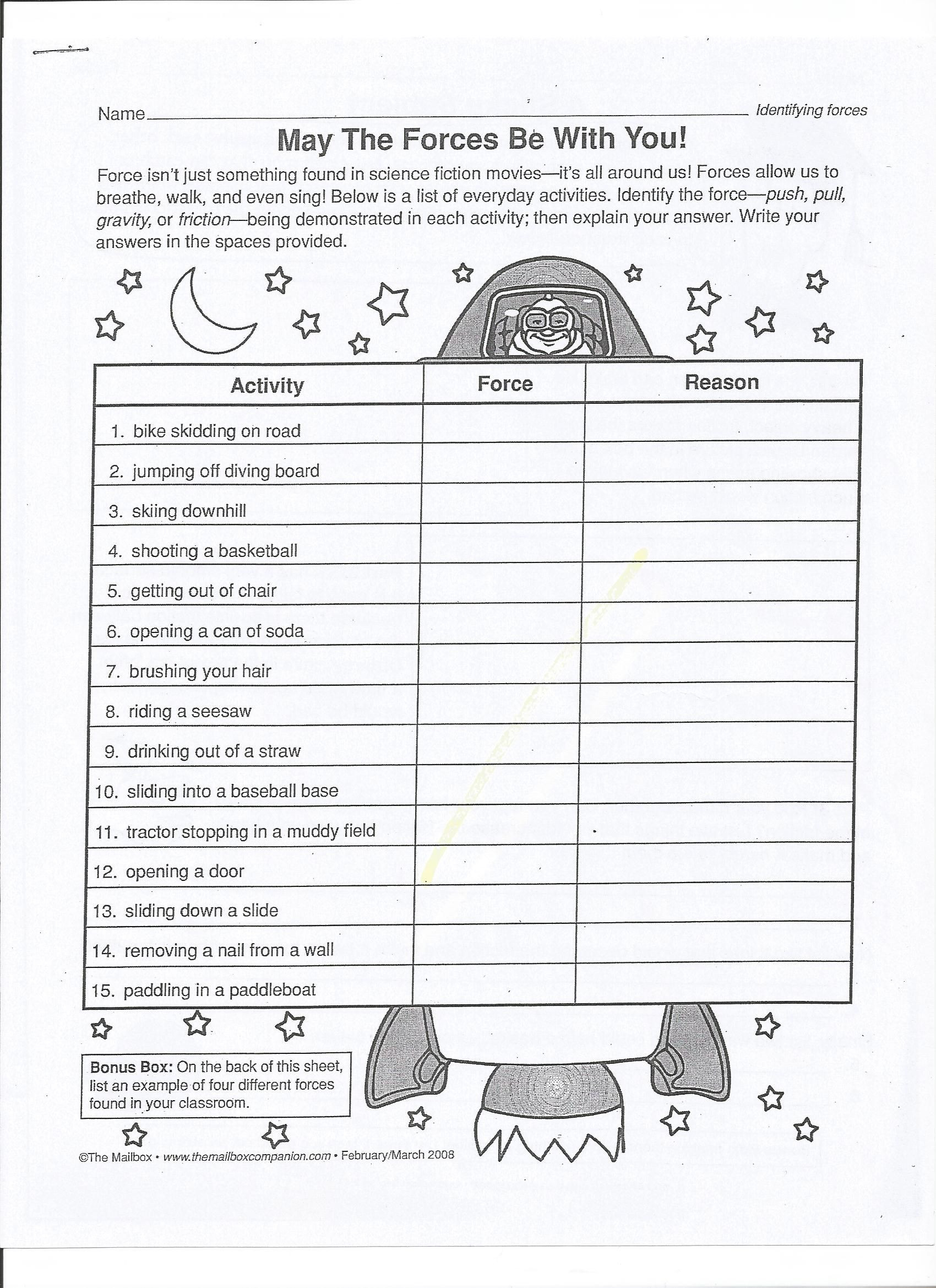 Forces and Motion Worksheet Balanced and Unbalanced forces Worksheet 13 1700—2338