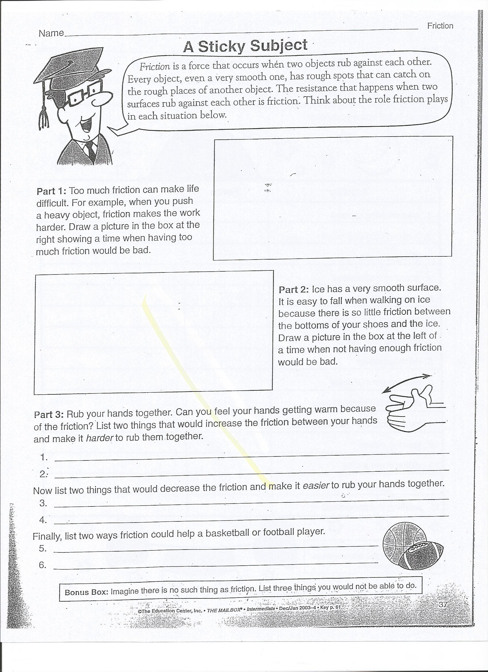 Forces and Motion Worksheet force and Motion Mrs Wells Class