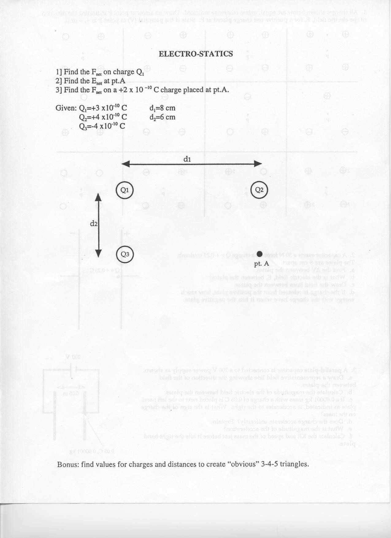 Forces Worksheet 1 Answer Key Physics Handouts Worksheets with Answer W12 Elecrostatics 5k