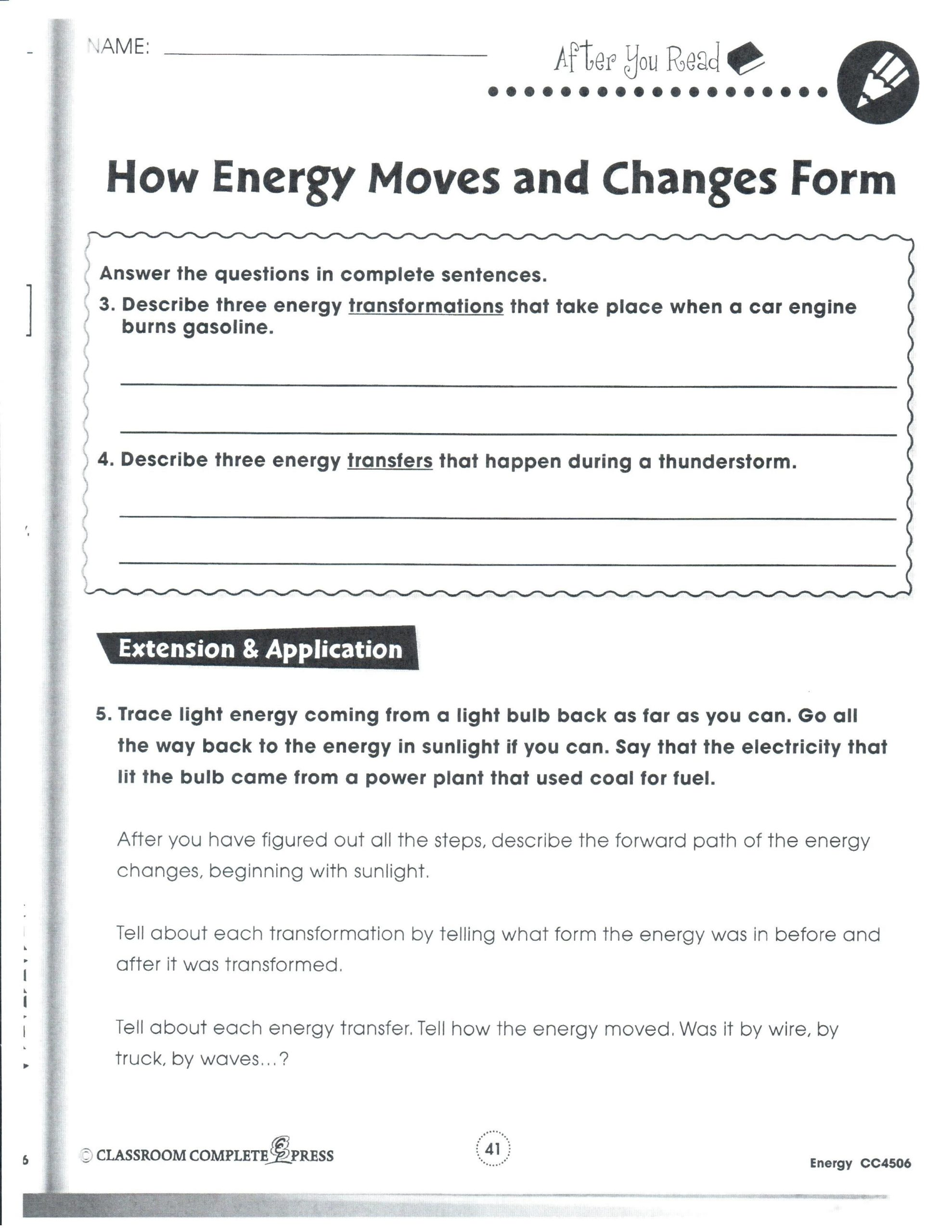 Forms Of Energy Worksheet Answers Cryptograms Energy Worksheet Answers