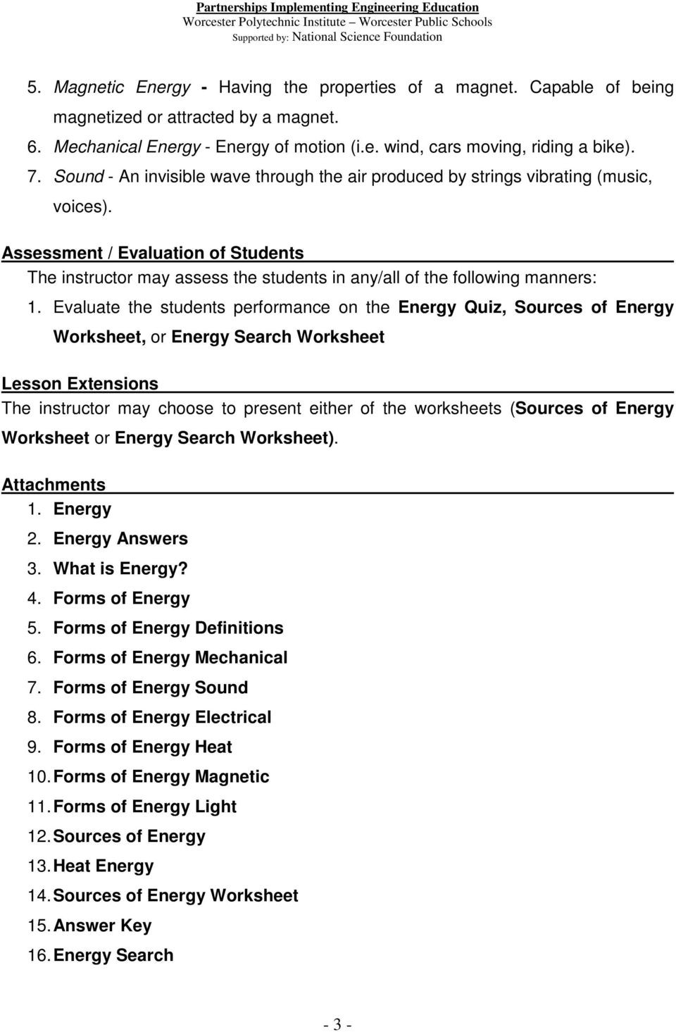 Forms Of Energy Worksheet Answers forms Energy Worksheet Answers Energy Etfs