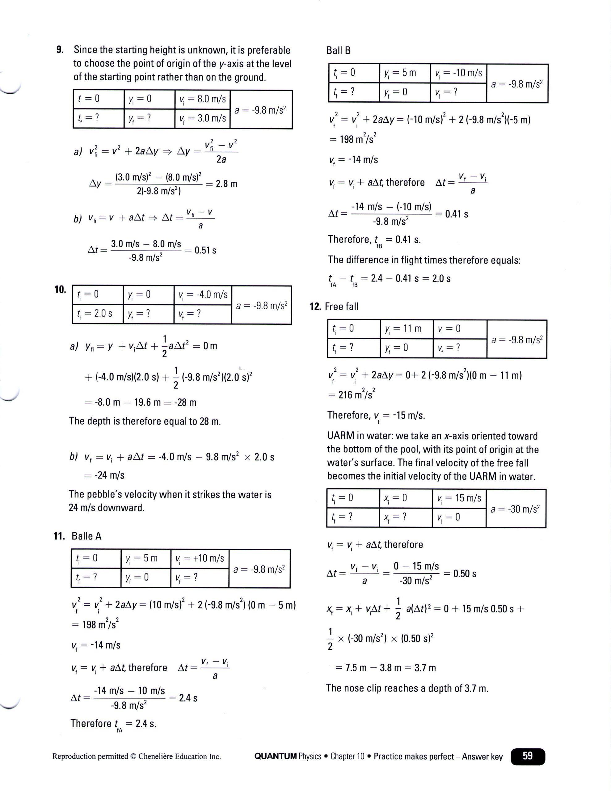 Free Fall Problems Worksheet 28 Kinematic Equations Worksheet Answers Worksheet