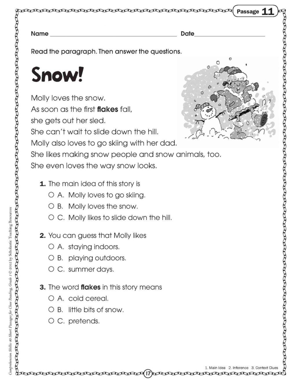 Free Fall Problems Worksheet Worksheet Grade Reading Prehension Worksheets Free Pdf
