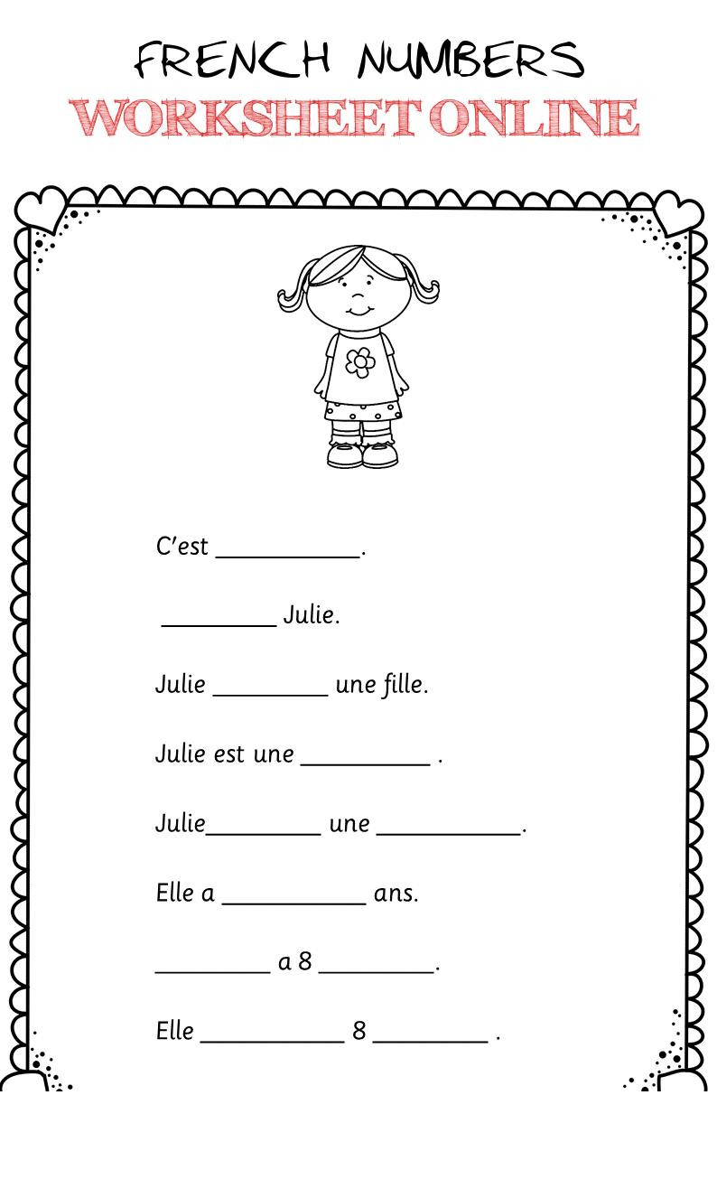 French Worksheet for Kids French Numbers Worksheet Line 2 French Numbers Worksheet
